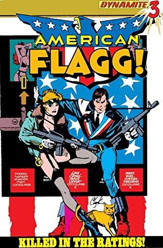 Cover della ristampa del volume 3 di American Flagg, testi e disegni di Howard Chaykin a cura di Dynamite.