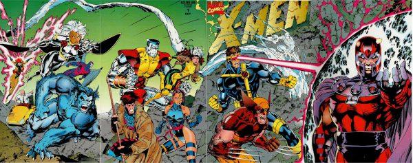 Cover del n. 1 della collana X-Men degli anni 90, di Chris Claremont e Jim Lee.