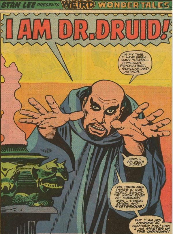 il mistico DOCTOR DROOM, adepto ed erede occidentale del manto di signore delle arti occulte orientali., tratto dal n.1 di AMAZING ADVENTURES