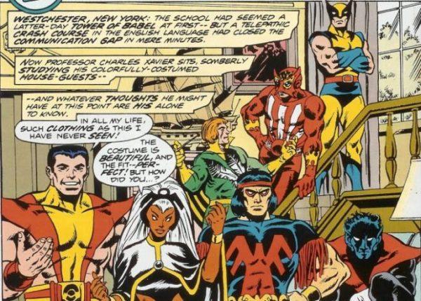 una delle prime pagine dell'albo Giant Size X-Men 1, che proponeva la nuova squadra multirazziale degli X-Men