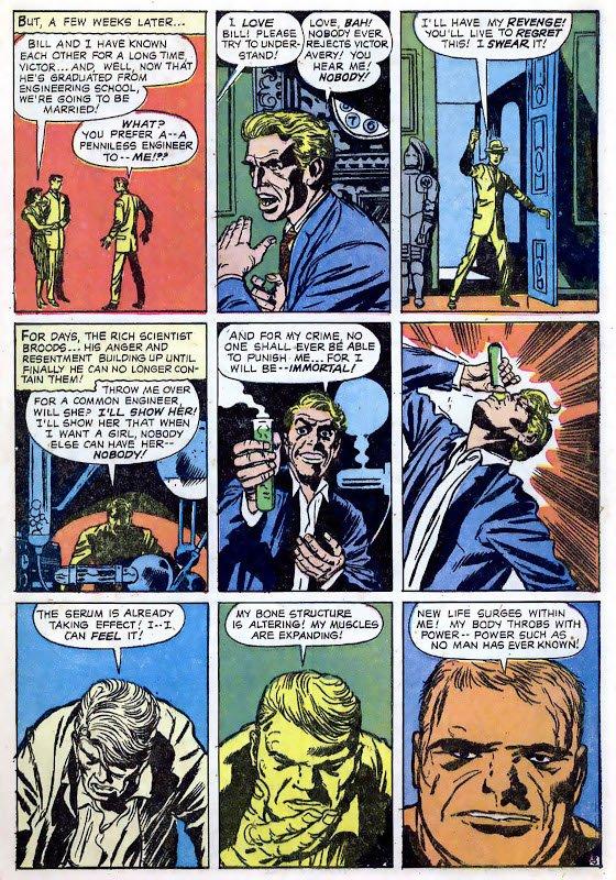 Victor Avery, uno scienziato che per amore trasforma se stesso in un colosso grigio invulnerabile e immortale, presentato in Aprile in JOURNEY INTO MYSTERY 79