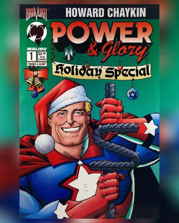 Cover del #1 di Power&Glory. Testi e disegni di Howard Chaykin (Etichetta Bravura, Malibu comics)