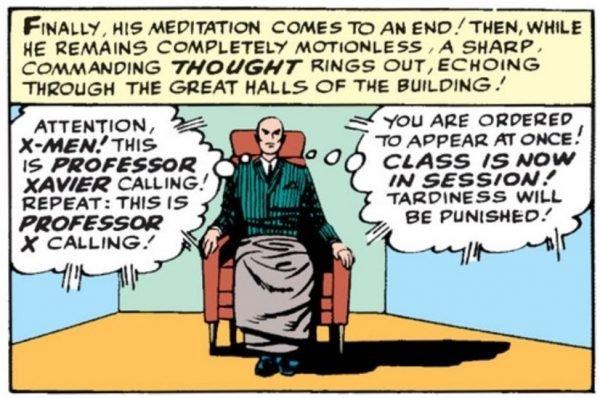 Professor Xavier, fondatore e nume tutelare degli X-Men