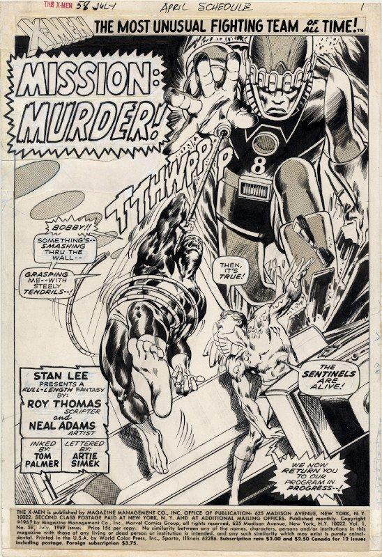 spash page di neal adams da x-Men #58
