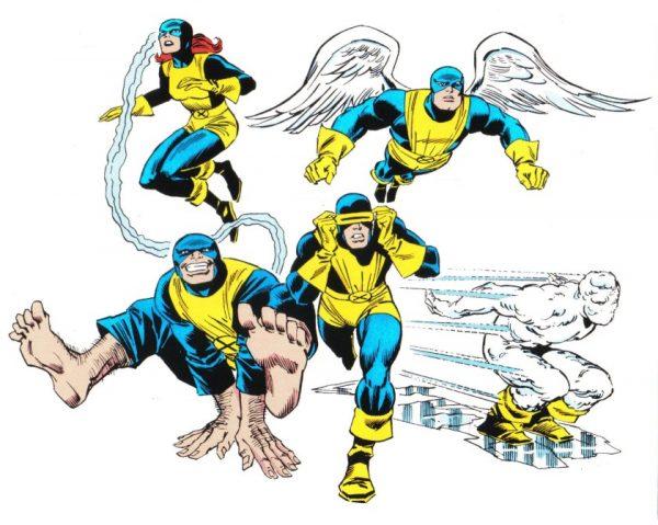 immagine con la formazione originale degli X-Men (anno 1963)