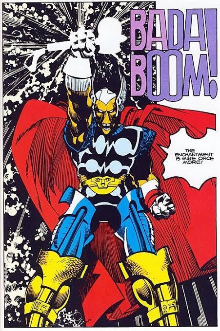 Beta Ray Bill, uno dei personaggi inventato da Walt Simonson, durante al sua run su Thor.