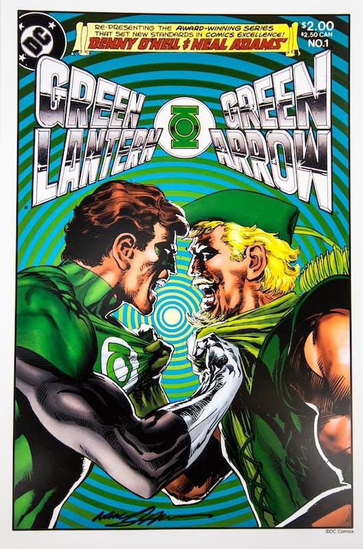 copertina del n. 1 (1983) della ristampa della saga Lanterna Verde-Green Arrow