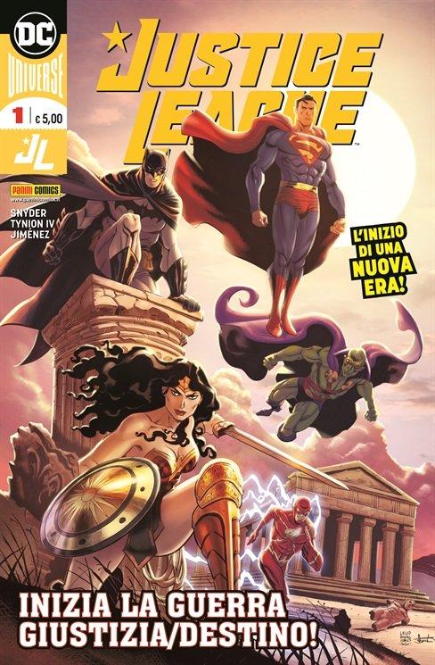Copertina della versione City del n. 1 di Justice League, disegnata dall'autore messinese Lelio Bonaccorso © Degli aventi diritti. . Immagine utilizzata solo a fini divulgativi
