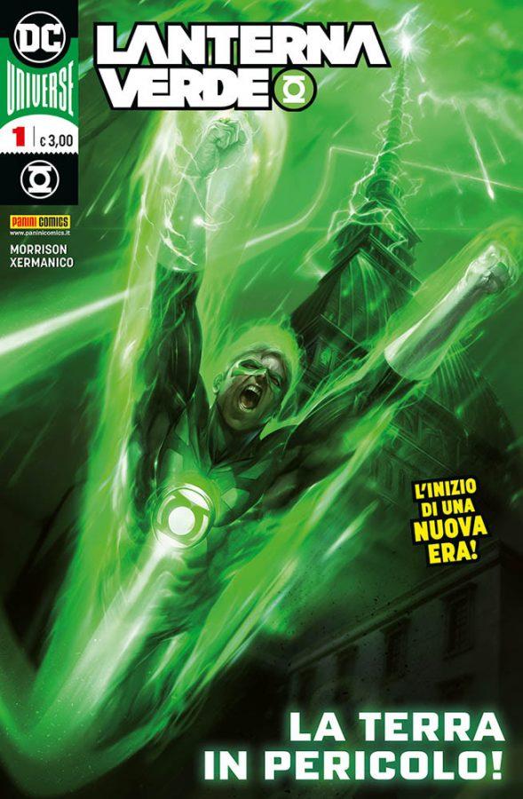 Copertina della City Edition del n. 1 di Lanterna Verde, disegnata da Francesco Mattina  ed ambientata a Torino © Degli aventi diritti. . Immagine utilizzata solo a fini divulgativi