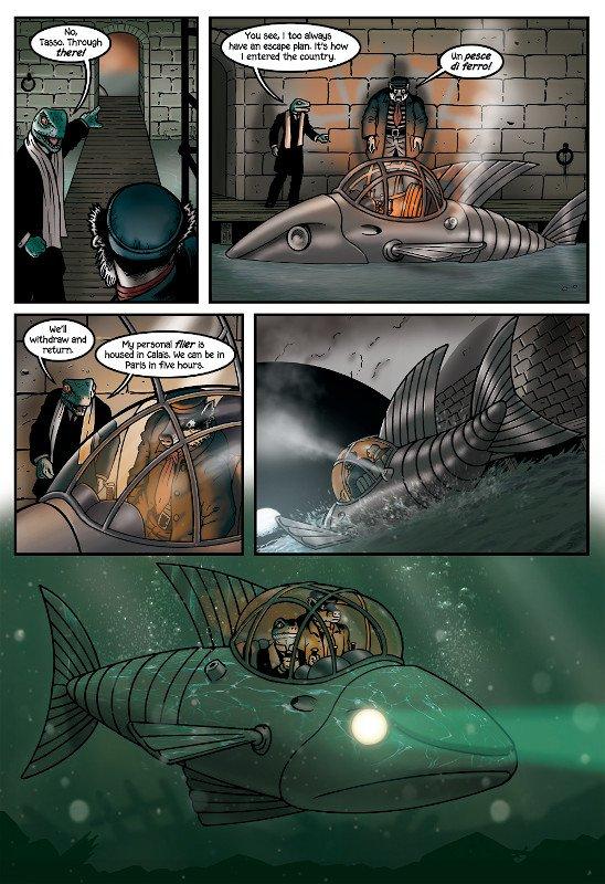 """""""Un pesce di ferro!"""": The Iron Fish da pag. 102 di Grandville force Majeure"""