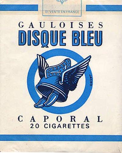 Grandville force Majeure, pag. 127: Le sigarette di Madame Moue sono del vecchio brand Gauloise Disque Bleu.