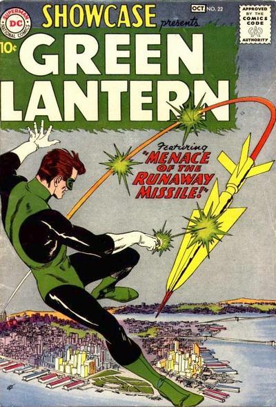Showcase #22, con l'apparizione di Green Lantern, revisione dell'originale GL del 1940