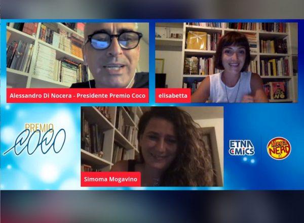 Screenshot durante l'assegnazione del premio a Simona Mogavito
