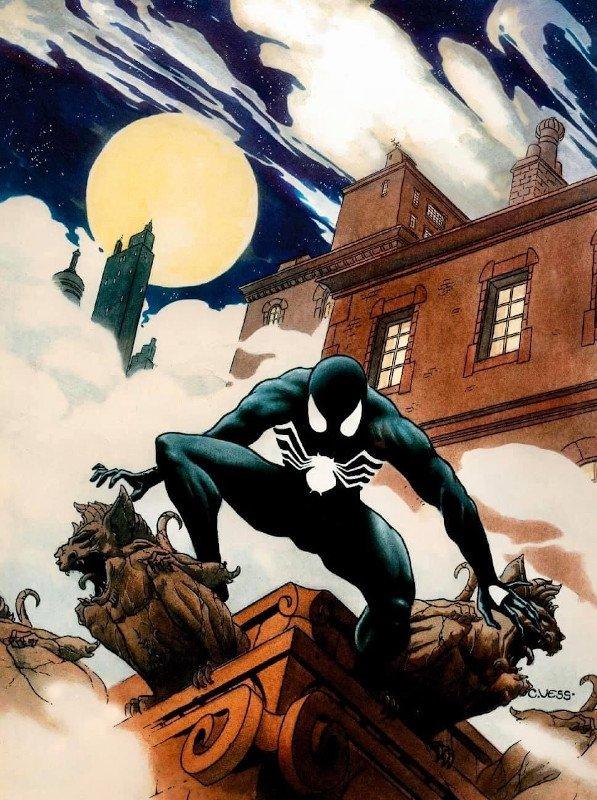 Illustrazione dedicata Spiderman ldi Charles Vess © degli aventi diritti