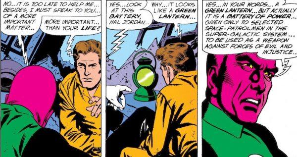 """I Guardaini dell'universo  sono gli autori della suddivisione dello spazio conosciuto in 3600 settori, ciascuno presidiato da una Lanterna Verde dotata di un """"anello del potere"""", in grado di rendere reali i costrutti mentali del suo portatore - il che ne fa, così è detto, l'arma più potente che possa esistere."""