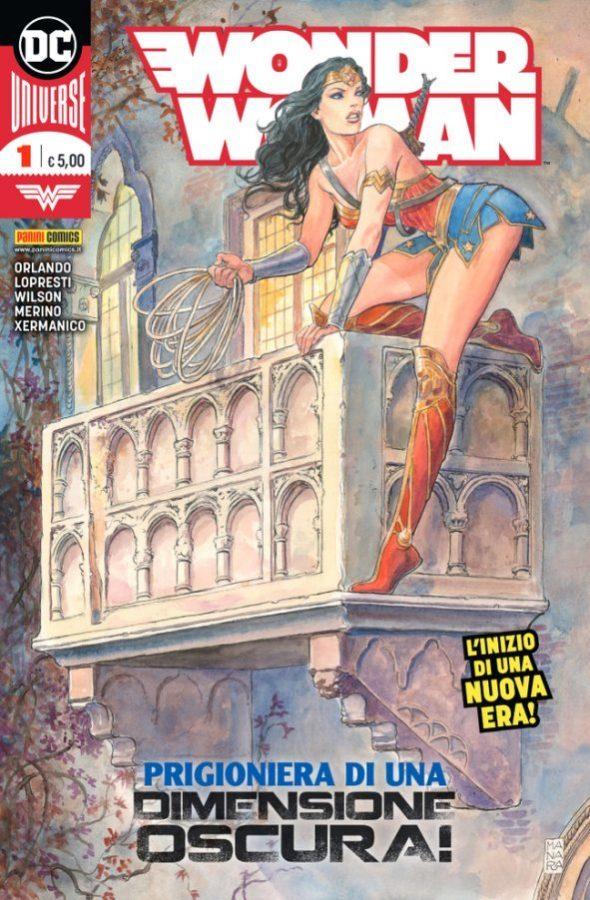 Copertina della City Edition del n. 1 di WONDER WOMAN, disegnata dal Maestro Milo Manara ed ambientata a Verona © Degli aventi diritti. Immagine utilizzata solo a fini divulgativi