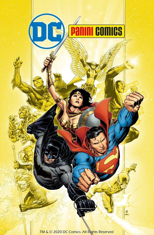 Copertina del mensile Anteprima di Marzo, con le news sui primi albi DC Comics in Italia, previsti in aprile e poi spostati a giugno