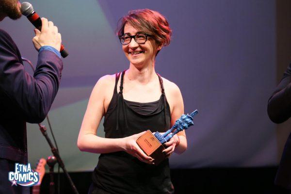 """Giovanna Niro uno degli artisti che hanno ricevuto il premio """"Coco"""" nell'edizione 2019 di Etna Comics. Per gentile concessione d Etna Comics"""
