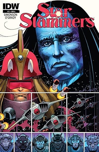 Copertina di Star Slammers #3 disegnato da Walt Simonson. Edizone IDW
