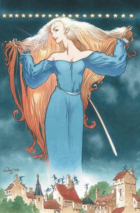 """Un'immagine tratta dal  graphic novel StarDust"""", disegnato da Charles Vess su tesi di Neil Gaiman © degli aventi diritti"""