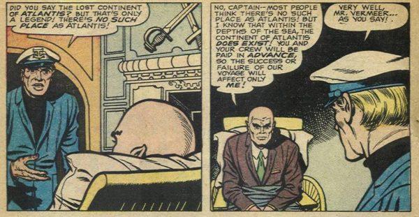 Lo stesso Jack Kirby nella creazione del parco-personaggi del nuovo universo Marvel avrebbe derivato fattezze ed effetti vari dalle sue storie trascorse: i mutanti Quicksilver e lo stesso Professor X (in questa immagine e nella successiva) devono molto a figure comparse in STRANGE TALES 67 e 69, ancora nel lontano '59.
