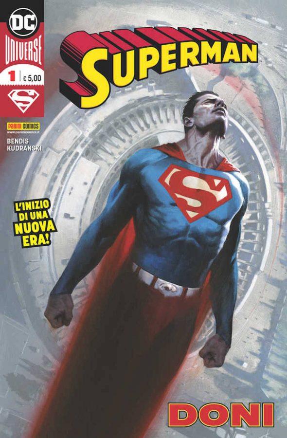 Copertina della City Edition del n. 1 di Superman, disegnata dal mitico Gabrile Dell'Otto © Degli aventi diritti. . Immagine utilizzata solo a fini divulgativi