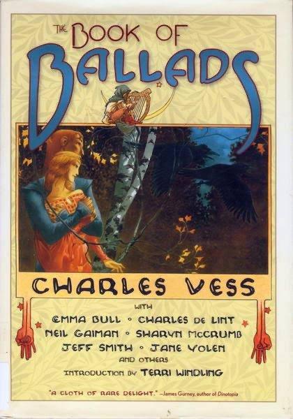 la copertina del volume The Book of Ballads and Sagas (2004) disegnato da Charles Vess © degli aventi diritti