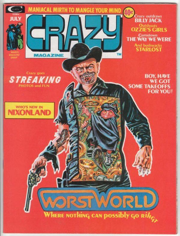 una copertina di Crazy magazine