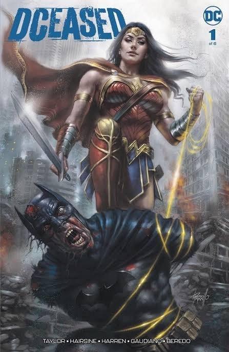 Copertina della miniserie DCEASED (DC Comics) dipinta da Lucio Parrillo