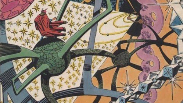 Il paesaggio nel quale si muove il Doctor Strange di Steve Ditko è un delirio surrealista, sentieri si snodano a mezz'aria, vapori fluttuano contorcendosi