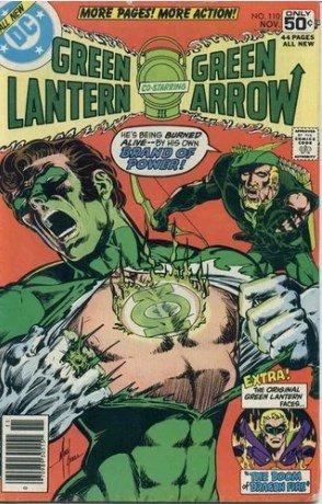 COPERTINA DEL N.110 DI GREEN LANTERN - Contiene: Brand of power (O'Neil/Grell) (11/78- Protagonista Lanterna Verde & Freccia Verde),  ed altri racconti