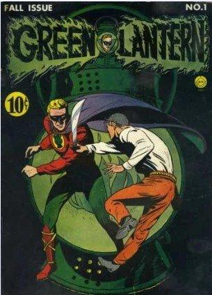 Green Lantern #1 (1940). Contiene   Masquerading Mare! (Finger/Nodell) (11/41- Protagonista Lanterna Verde [Alan Scott]) , ed altri racconti