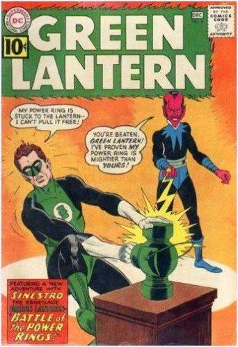 COPERTINA DEL N.9DI GREEN LANTERN -  Contiene : Battle of the Power Rings! (Broome/Kane) (12/61- Protagonista Lanterna Verde [Hal Jordan]),  ed altri racconti