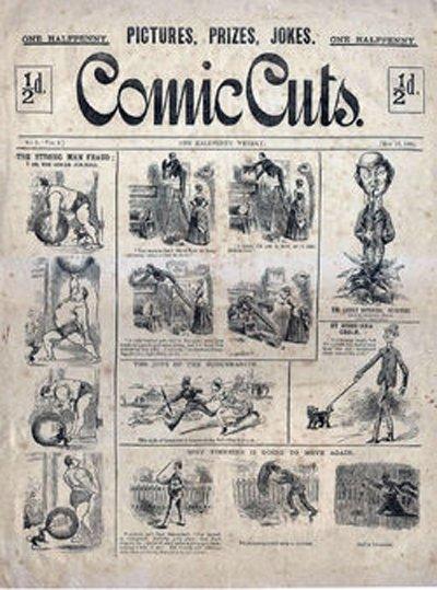 Grandville Force Majeure: Comic Cuts: il primo fumetto inglese per bambini, pubblicato tra il 1890 e il 1953. Era così enormemente popolare e generò così tanti imitatori, che iniziò la tradizione dei fumetti per bambini. Fino ad allora, erano prodotti esclusivamente per il consumo degli adulti, e di solito erano satirici.