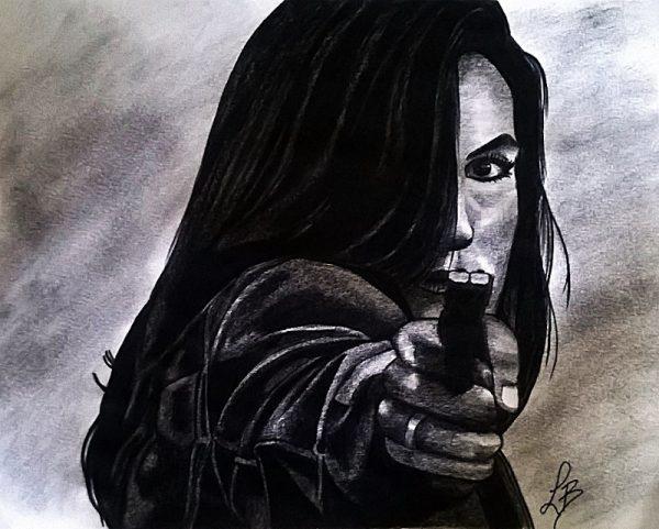l'attrice Mariska Hargitay nei panni della Detective Olivia Benson della serie Law and Order Special Victims Unit