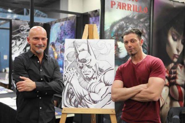 foto di Lucio Parrillo insieme al suo idolo di gioventù ed amico Claudio Castellini