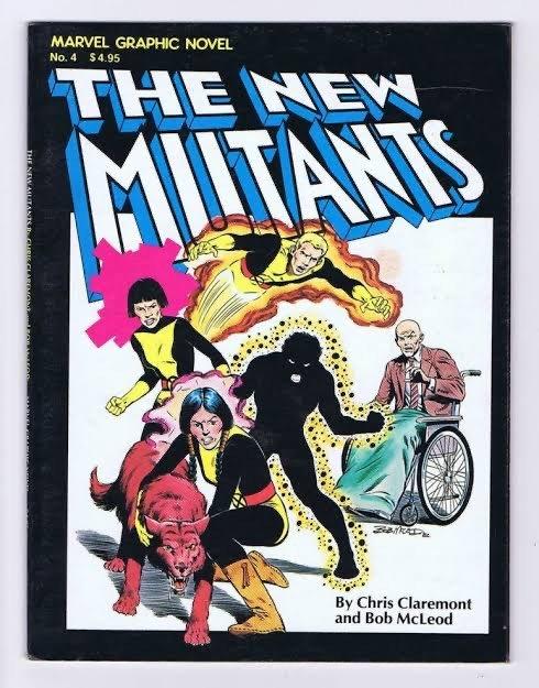 La copertina del Marvel graphic novel 4 dedicato ai New Mutants, disegnato da Bob McLeod