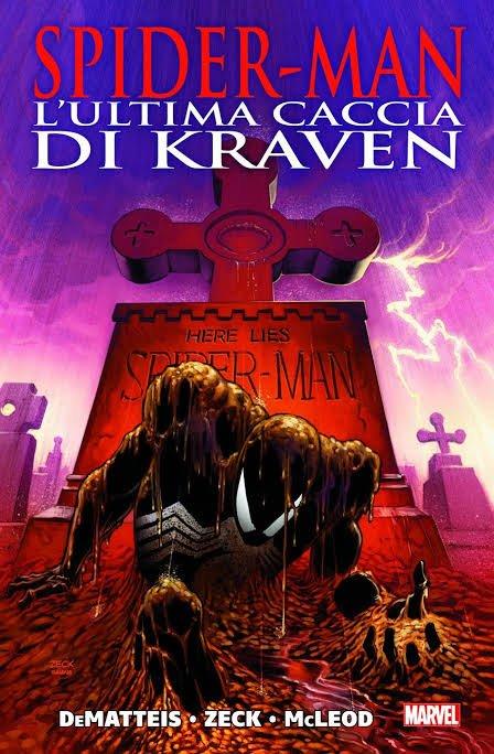 """una copertina del volume """"L'ultima caccia di Kraven"""", nel quale McLeod è l'inchiostratore"""