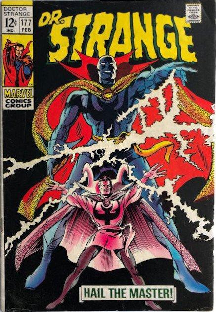 Cover dell'albo doctor strange #177   (1969) nuovo costume e disegni di gene colan