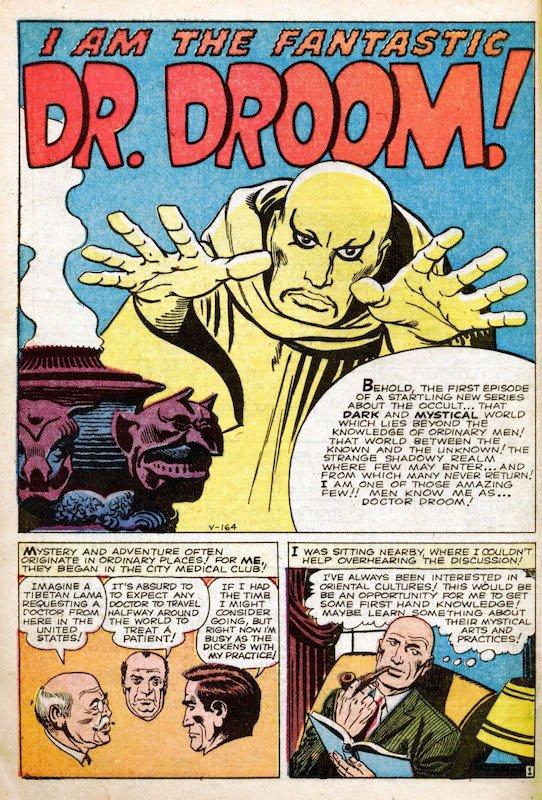 Tavola intera della prima storia in cui Jack Kirby introdusse dal n.1 della nuova collana AMAZING ADVENTURES (Giugno '61) quello che sarebbe diventato il famigerato DR. DROOM, uno degli episodi più infelici nella storia Marvel.