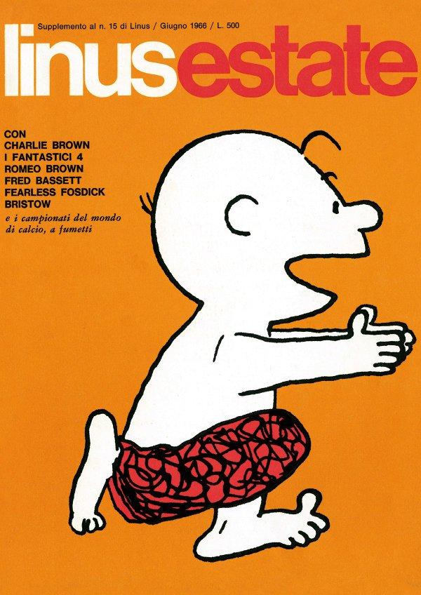 speciale LINUS ESTATE del Giugno 1966, edito dalla Corno, in cui viene presentato il primo leggendario numero di FANTASTIC FOUR (uscito in America nel Settembre 1961)
