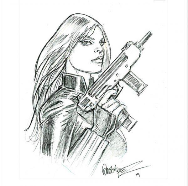 Black Widow disegnata da Jose Luis Garcia Lopez