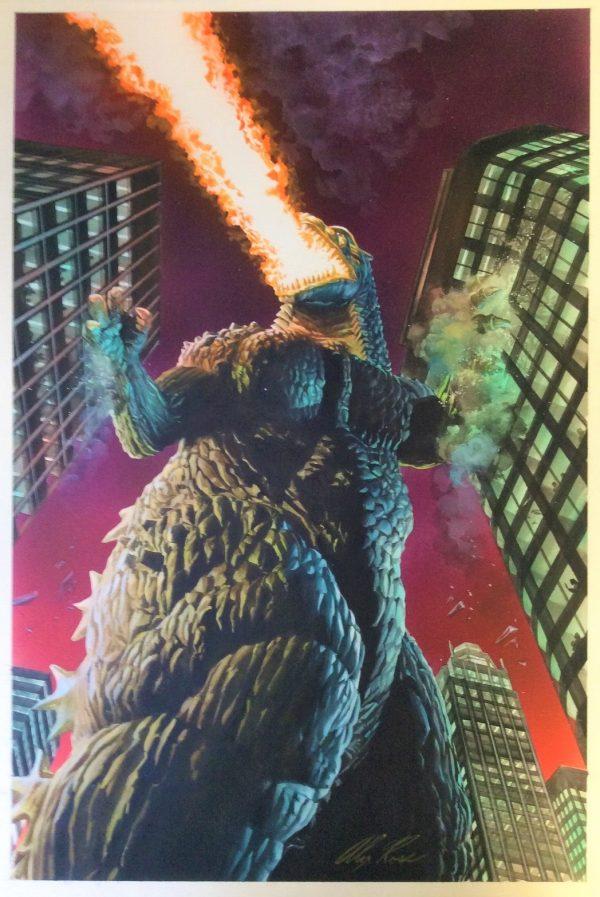Godzilla dipinto da Alex Ross