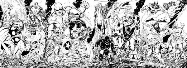John Byrne Avengers doppia copertina completa