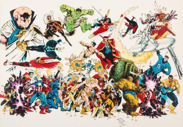 Michael Golden: colorguid per il suo poster per la Merry Marvel
