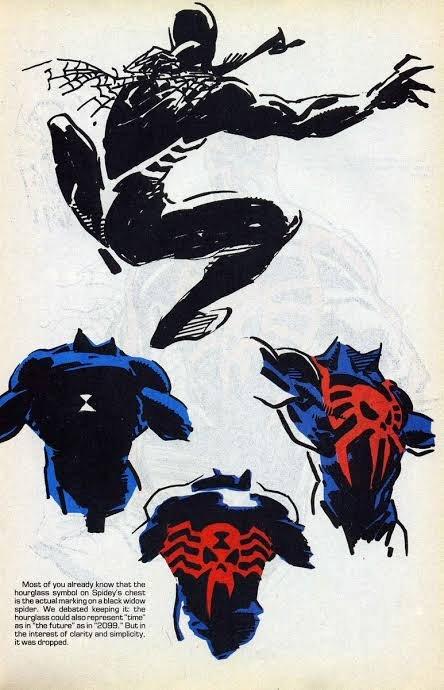 altri Disegni preparatori per Spider Man 2099, Personaggio co-creato da Peter David