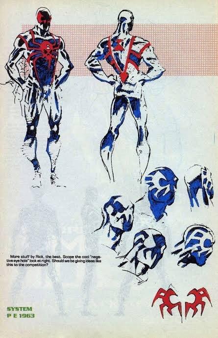 Ancora altri Disegni preparatori per Spider Man 2099, Personaggio co-creato da Peter David