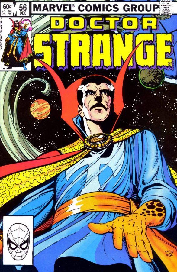 Cover dell'albo Doctor Strange #56 (anni 80)