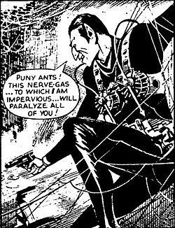 """L'altro personaggiodi nome """"The Spider"""" che comparve, invece, nel fumetto britannico nel 1965, e che venne pubblicata in Italia PRIMA dell'Uomo Ragno edito dalla Corno"""