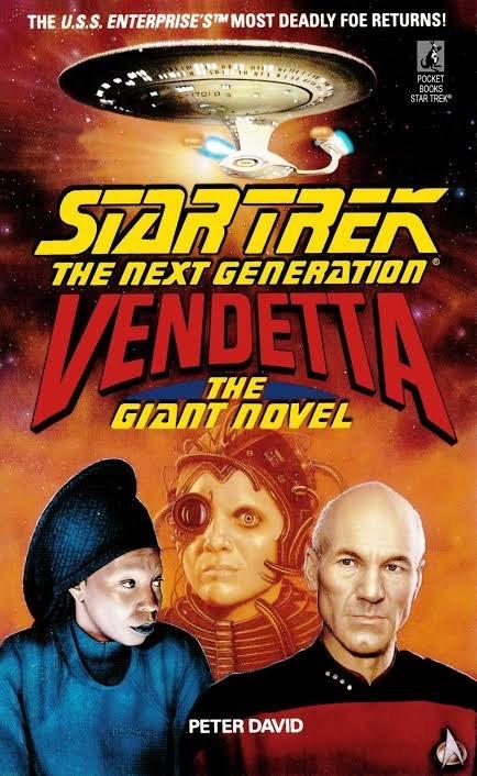 Cover del Giant Novel, Star trek, the Nest generatio: Vendettq, scritto da Peter David